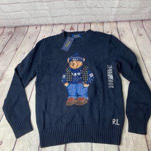 Ralph Lauren Polo Bear Cotton-Blend Sweater